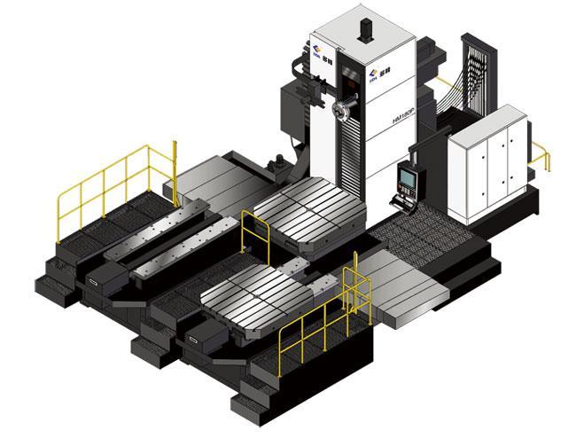 双交换卧式数控镗铣加工中心