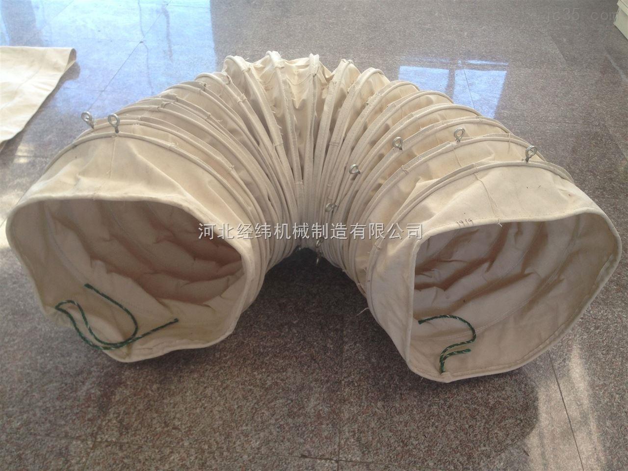 钢筋龙骨帆布伸缩布袋 吊环加强散装布袋厂家