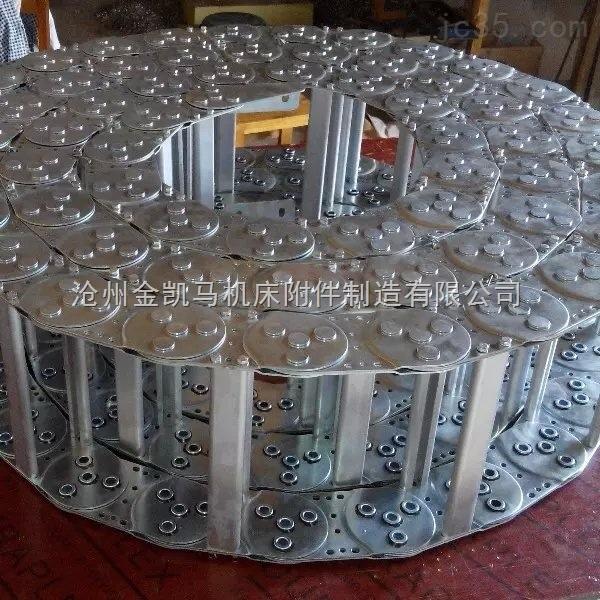 石材机械金属钢制拖链、耐磨损耐酸碱机床钢铝拖链制造商
